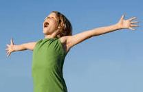 shouting for joy